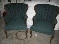 Two Wing Back Chairs. 35.00 for Both  Location: