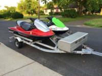 TWO Kawasaki STX 1500 STX-15F Jetskis with Sea Lion