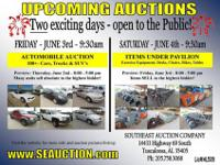 TWO LARGE AUCTIONS THIS WEEKEND! LARGE AUTO AUCTION
