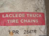 1 pair of Laclege Truck Tire Chains 2847 R - For 295/75