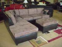 "Gorgeous ""Microfiber"" Sectional. This item is Brand New"