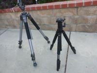 Two Tripods: Professional Quality Excellent Condition
