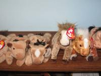 Ty Beanie Babies Farm Animals, Horses, Pigs, Cows,