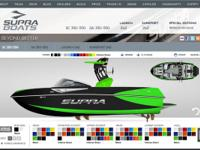 U-motors Supra SC-350.  This boat was made to wakesurf.