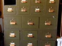 Extremely special U.S. Army metal file cabinet! This