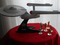 This is a stand mounted model of the Star Ship