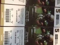 I have 4 Club access tickets to the USF Bulls Vs