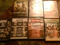 I have various ufc dvds some pictured but lots more