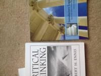 Two books from UK philosophy courses. No marks or