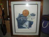 This picture depicts UK basketball uniform items and is