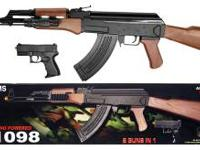 UKARMS P1098 Spring Powered Airsoft Rifle 2 Guns in