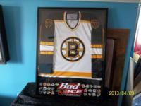 1997 Bud Ice Framed Boston Bruins Jersey. Every NHL