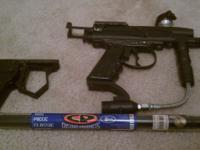 spider xtra paintball gun. comes with a anti gravity