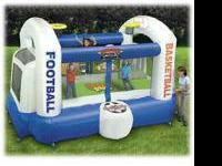 Turn your yard into an inflatable sports area with the