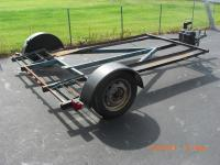 "5.5 x 10ft trailer with lights, 2"" ball hitch, needs"