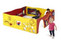 The Learn-A-Lot play panel system has a variety of