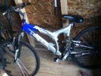 I have a ultra shock mountain bike for sale asking