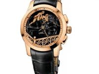 6116-130 Ulysse Nardin Rose gold 18K case, fixed
