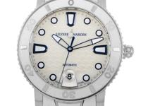 This Ulysse Nardin Lady Diver watch features a