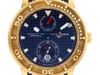 Automatic Ulysse Nardin Maxi Marine in 18k rose gold