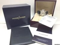 100% Authentic ULYSSE NARDIN Platinum PT950 GMT