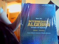 Un-opened Math 105 Intermediate Algebra Concepts and