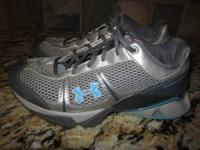 AWESOME PAIR OF WOMEN'S SIZE 5 UNDER ARMOUR RUNNING /