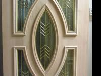 UNFINISHED DECORATIVE SOLID MAHOGANY WOOD DOOR FOR ONLY