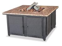 The UniFlame propane-powered gas firepit becomes the