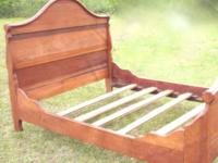 Antique Sleigh Bed from an old Pawleys Island home This