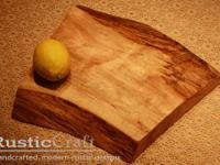 Unique Arc Thick Solid Maple Wood Cutting Serving Block