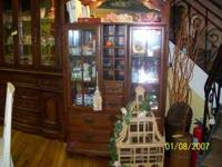 Brand new unique solid wood curio cabinet located at