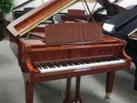 George Steck bubinga finish grand piano with matching