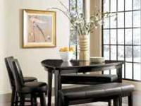 Beautiful dining set used to stage a condo at the