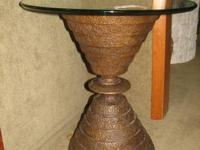 Very unusual and unique occasional table with a bronze