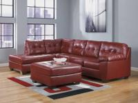 MIXED LEATHER SECTIONAL IN SALSA OR CHOCOLATE! JUST