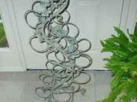 One of a kind wrought iron wine rack. $35.00 buy this