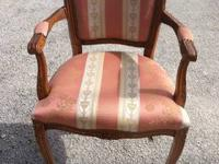Unique Cream Solid Wood Arm Chair $65 Chabad Thrift
