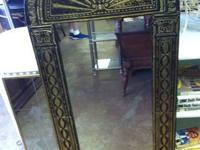 "Unique Tinted Design Glass Wall Mirror $45 30""W Chabad"