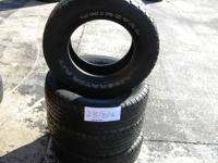 SET OF 4 USED TIRE UNIROYAL LIBERATOR 2357016  	FOR