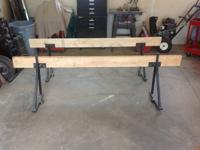This is a pre-owned Hawaiian Sawhorse Truck Rack. It