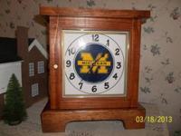 This U of M University clock is totally handmade