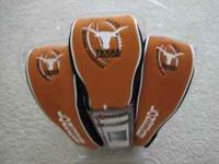 This is a new package of Datrek 3 pak headcovers for