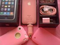 ( CUSTOMIZED PINK & GOLDEN BEZEL ) IPHONE 3G 8GB