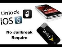 UNLOCKING ALL IPHONE 4S VERIZON AND SPRINT FOR ANY