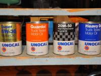 1-QT CARDBOARD OIL CANS FROM 1970S ..............