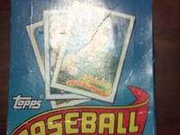 Unopened boxes of 1989 Topps wax pack baseball cards. I