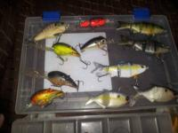 I have a plano box with (LiveTarget craw/bluegill,
