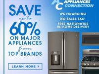 Save up to 65% on Top Home Appliances, Delivered to