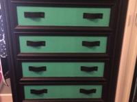 This is a gorgeous dresser, Solid Oak, upcycled. Very